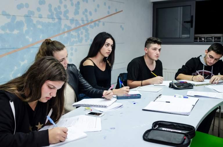 Μελέτη στο φροντιστήριο με καθοδήγηση καθηγητή
